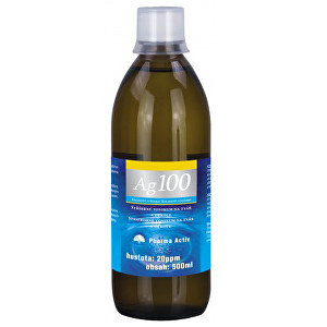 Pharma Activ Koloidné striebro Ag 100 (20 ppm) 500 ml