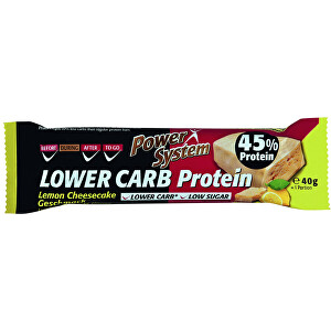 Power System LOWER CARB Lemon Cheesecake Bar with 45 percent Protein 40 g
