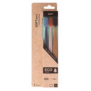 Zobrazit detail výrobku SOFTdent ECO zubní kartáček soft 3 ks