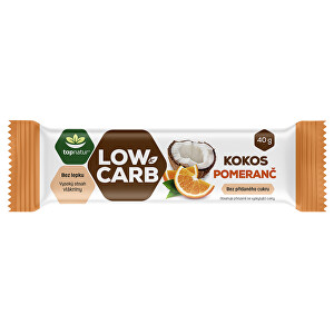 Zobrazit detail výrobku Topnatur LOW CARB tyčinka Kokos & Pomeranč 40 g