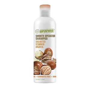 Zobrazit detail výrobku SUPERFOODS Smooth Opearator šampon - bambucké máslo, vitamín B6 a arganový olej 355 ml