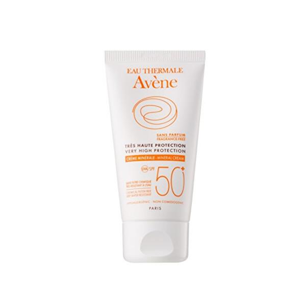 Levně Avène Minerální ochranný krém na obličej bez parfemace 50+ (Very High Protection) 50 ml