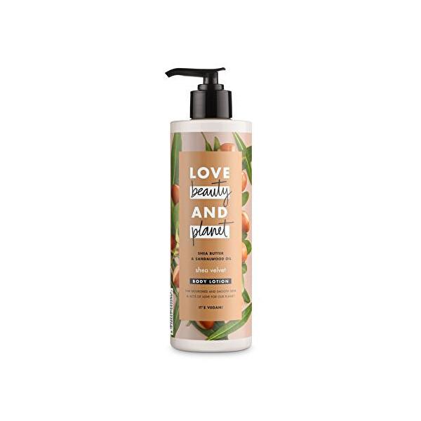 Levně Love Beauty and Planet Vyživující tělové mléko s bambuckým máslem Shea Velvet (Body Lotion) 400 ml