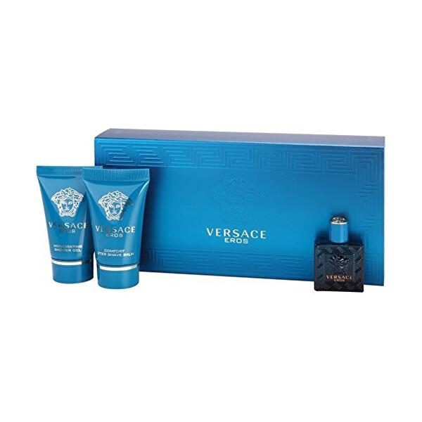 Levně Versace Eros - EDT 5 ml + balzám po holení 25 ml + sprchový gel 25 ml