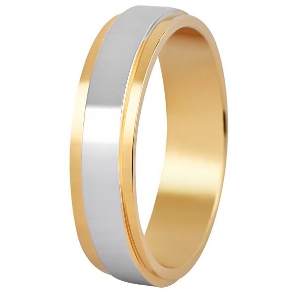 Levně Beneto Dámský bicolor snubní prsten z oceli SPD0553 mm