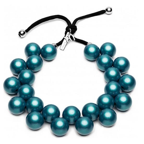 Ballsmania Originálne modrý náhrdelník C206-18-4718 Blu Oceano. Materiály sú bez niklu a použité farby netoxické, dbá sa tak na zdravie zákazníkov aj na pohodlie pri ich nosení.