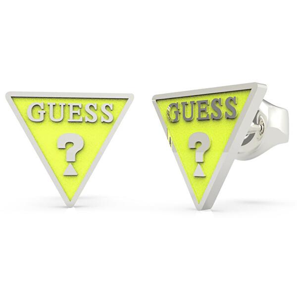 Levně Guess Trojúhelníkové ocelové náušnice UBE70126