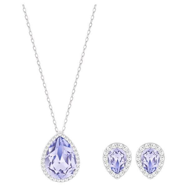 Levně Swarovski Půvabná sada šperků s modrými krystaly Fashion Jewelry 5347548 (náušnice, náhrdelník) - SLEVA