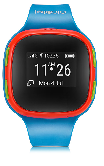 Alcatel MOVE TIME Track & Talk Watch, Blue / Red