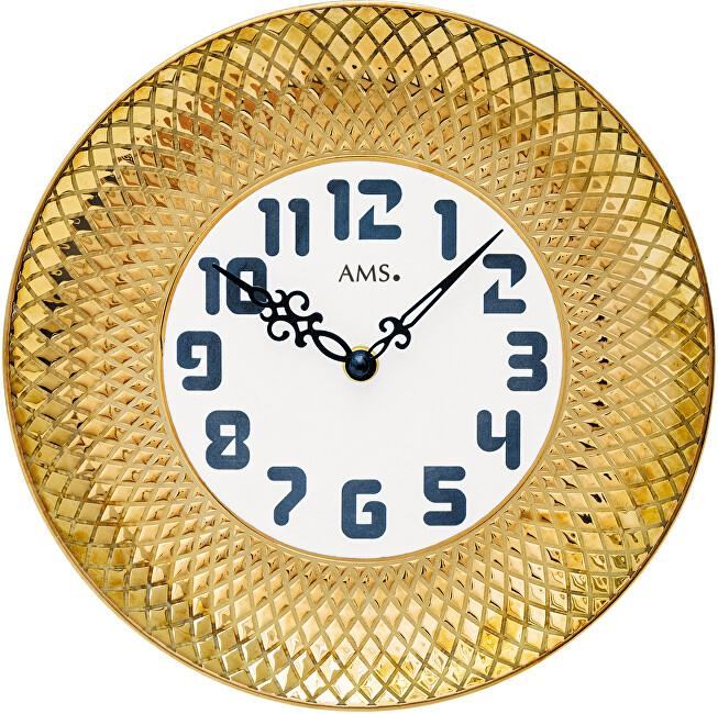 AMS Design Nástěnné keramické hodiny 9615
