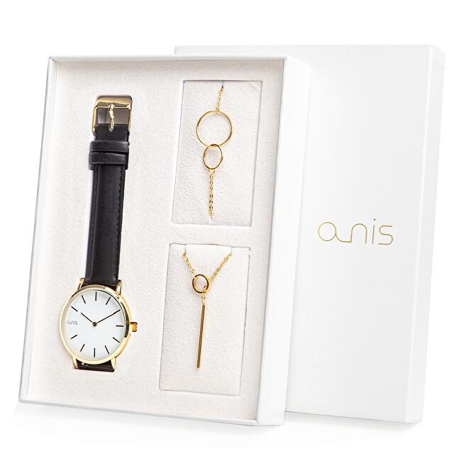 A-NIS Set hodinek, náhrdelníku a náramku AS100-17