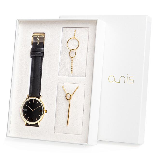 A-NIS Set hodinek, náhrdelníku a náramku AS100-20