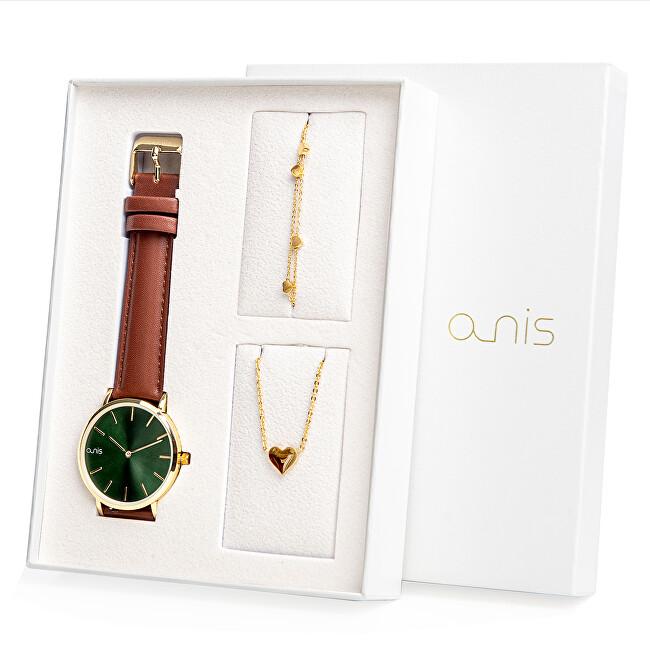 A-NIS Set hodinek, náhrdelníku a náramku AS100-27