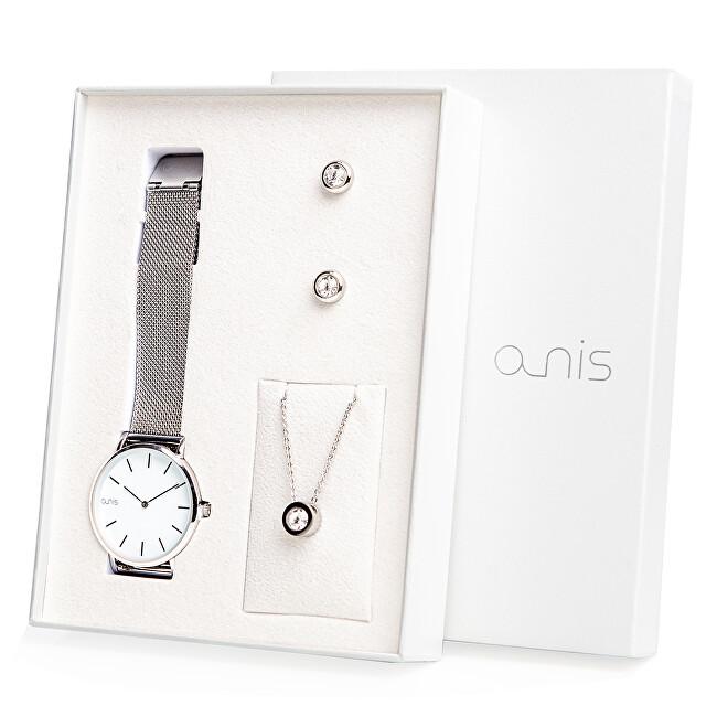 A-NIS Set hodinek, náhrdelníku a náušnic AS100-01