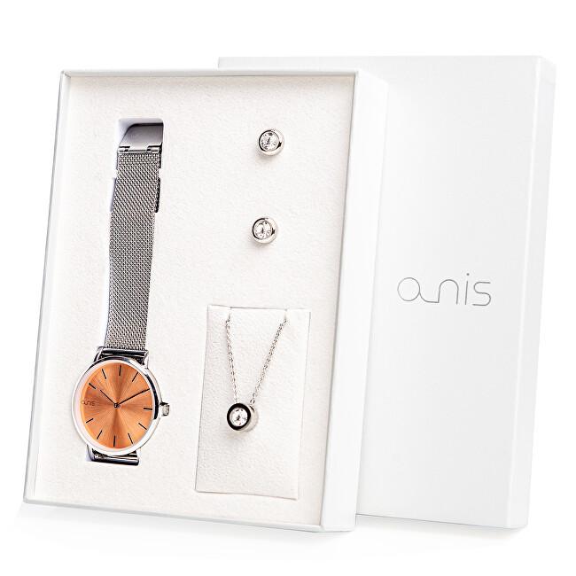A-NIS Set hodinek, náhrdelníku a náušnic AS100-10