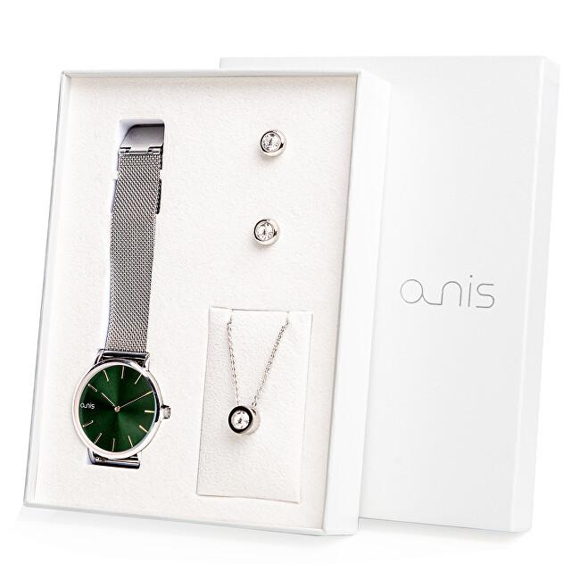 A-NIS Set hodinek, náhrdelníku a náušnic AS100-13