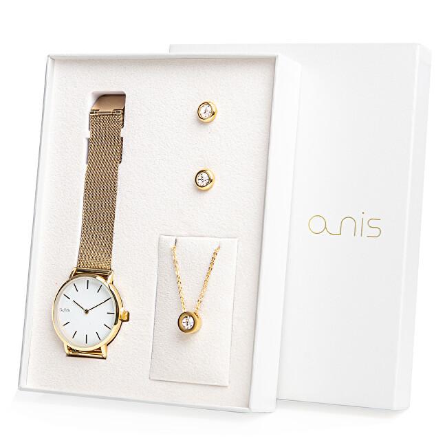 A-NIS Set hodinek, náhrdelníku a náušnic AS100-16