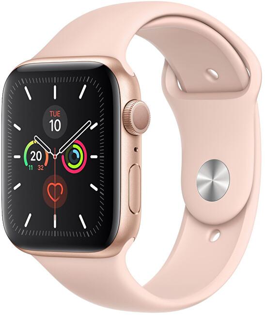 Apple Watch Series 5 40 mm zlatý hliník s pieskovoružovým športovým remienkom
