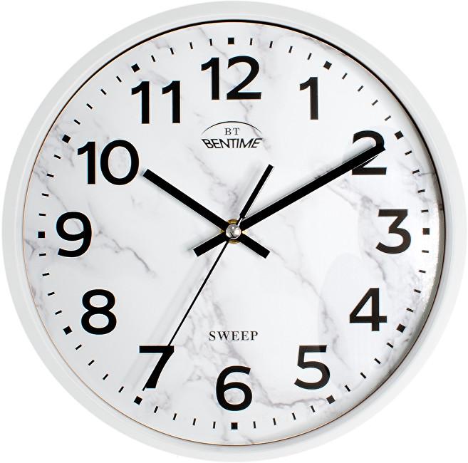 Levně Bentime Nástěnné hodiny H39-SW8011W1