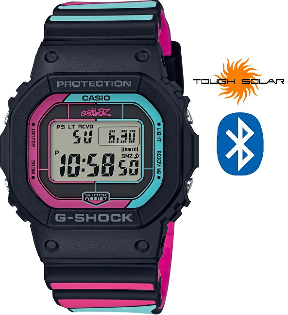 Casio G-SHOCK Gorillaz Limited Edition GW-B5600GZ-1ER Bluetooth Solar (397)