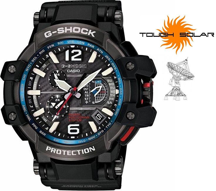 Casio G-Shock Gravitymaster GPW-1000-1AER Solar GPS Hybrid Wave Ceptor
