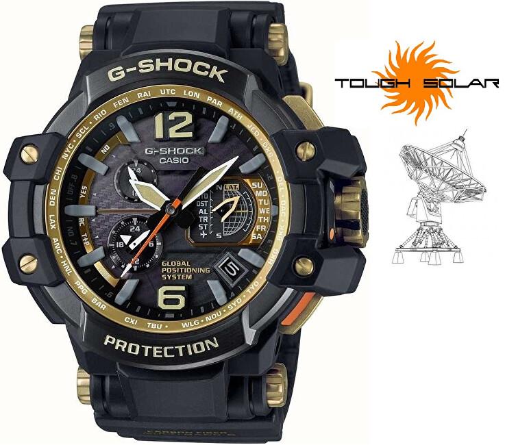 Casio G-Shock Gravitymaster GPW-1000GB-1AER Solar GPS Hybrid Wave Ceptor