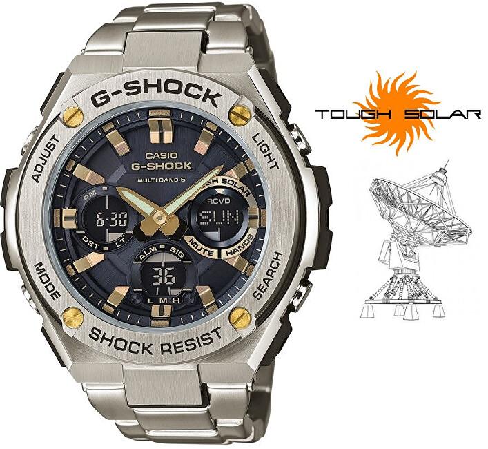 Casio G-Shock GST-W110D-1A9ER Solar Rádiově řízené