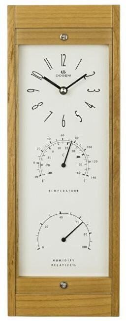DOGENI Nástěnné hodiny s teploměrem a vlhkoměrem WFW001LB