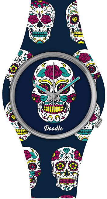 Doodle Calaveras Mood Blue Skull DOCA005