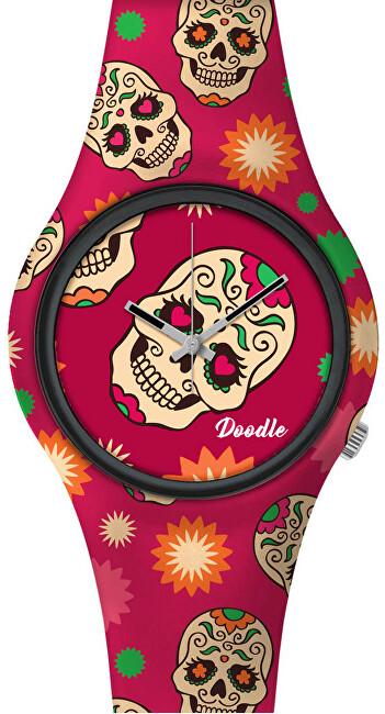Doodle Calaveras Mood Red Skull DOCA001