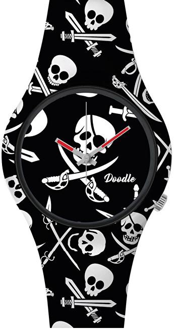 Doodle Skull Mood Black Pirates Skulls DOSK002