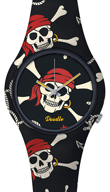 Doodle Skull Mood Red Pirates Skulls DOSK004
