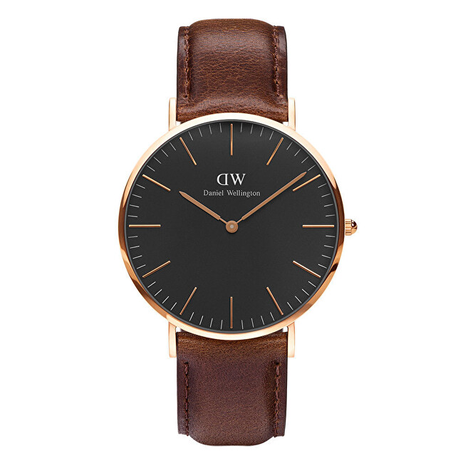 Daniel Wellington Classic Black St Mawes Rose Gold H25-856