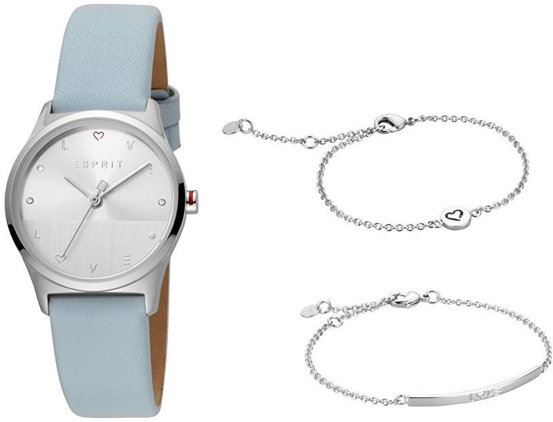 Esprit Dárkový set hodinek se 2 náramky Heart SET ES1L092L0015