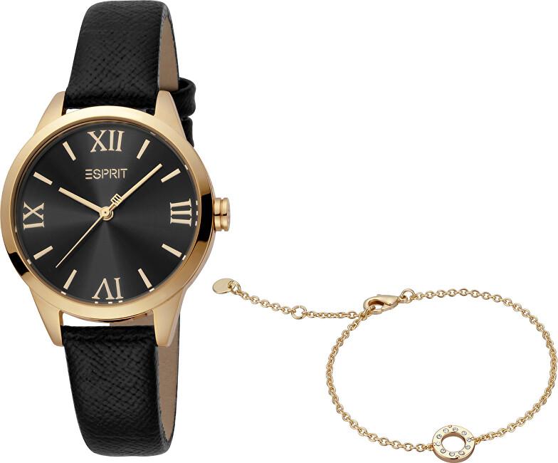Esprit Pointy Black Gold Set ES1L259L0035