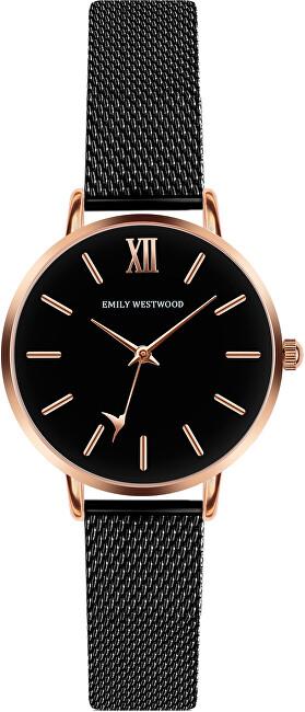 Emily Westwood Callum Brae Black Mesh Watch ECG-3314