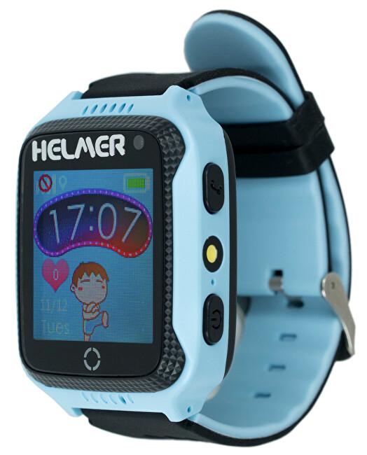 Helmer Chytré dotykové hodinky s GPS lokátorem a fotoaparátem - LK 707 modré - SLEVA III