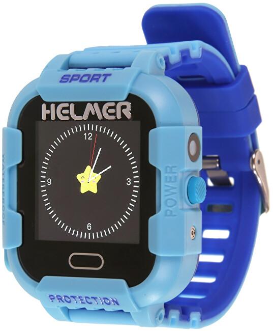Helmer Chytré dotykové hodinky s GPS lokátorem a fotoaparátem - LK 708 modré - SLEVA