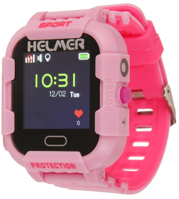 Helmer Chytré dotykové hodinky s GPS lokátorem a fotoaparátem - LK 708 růžové - SLEVA