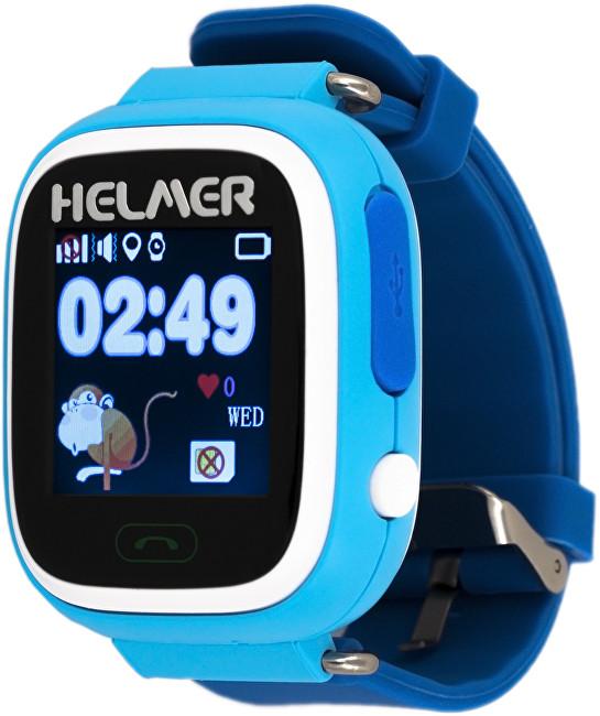Helmer Chytré dotykové hodinky s GPS lokátorem LK 703 modré - SLEVA