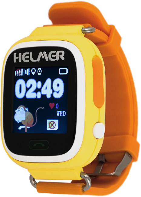 Helmer Chytré dotykové hodinky s GPS lokátorem LK 703 žluté - SLEVA