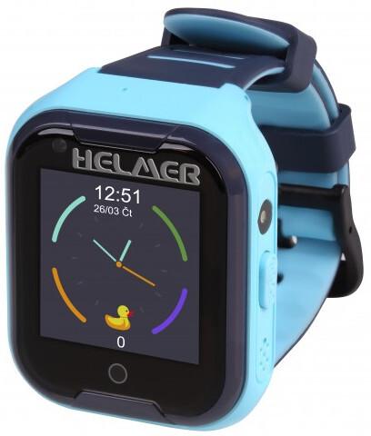 Helmer LK 709 4G modré - detské hodinky s GPS lokátorem, videohovorem, vodotesné