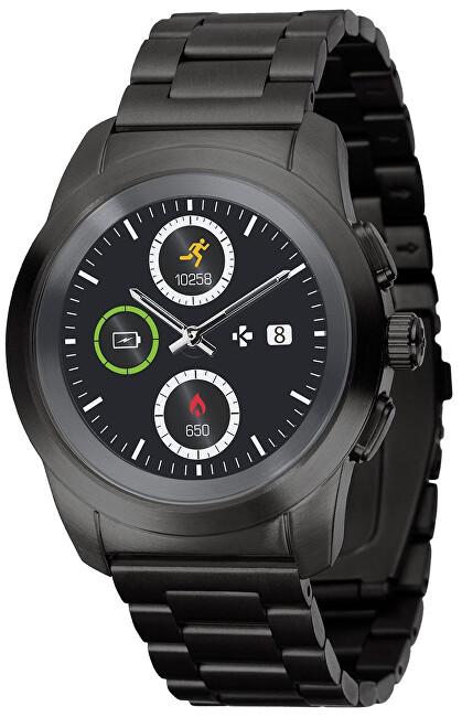 MyKronoz Hybridní hodinky ZeTime Elite Black Metal - 39 mm