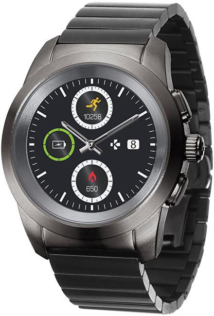 MyKronoz Hybridní hodinky ZeTime Elite Titanium Modern Link - 44 mm - SLEVA