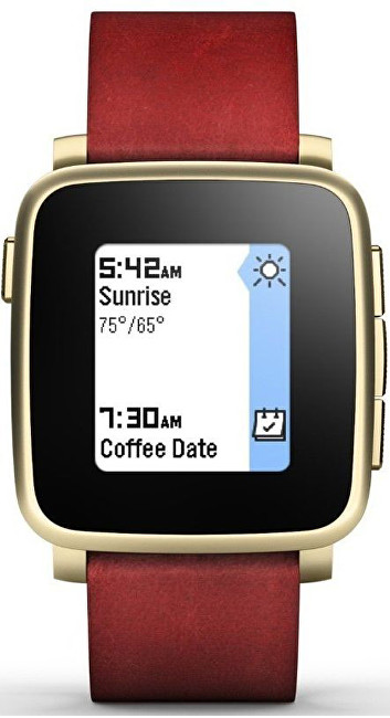 Pebble Time Steel Smartwatch zlaté