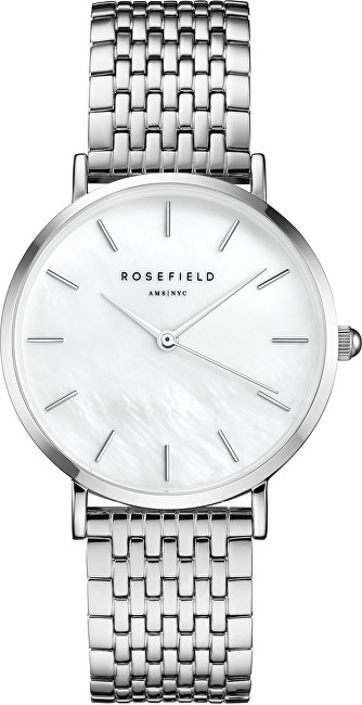 Rosefield The Upper East Side White Pearl Silver