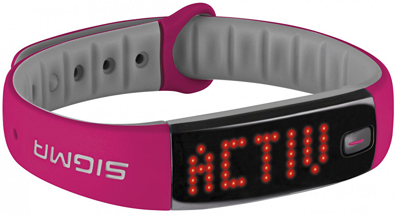 Sigma Fitness náramek Activo Pink - SLEVA II