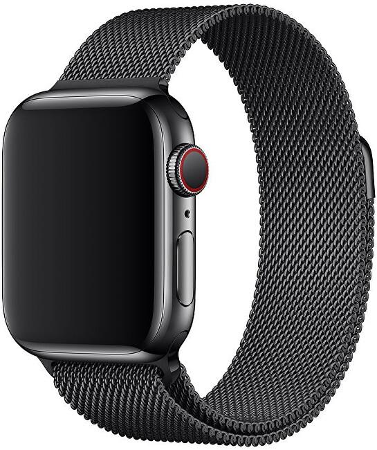 Apple Apple Watch řemínek - milánský tah 40 mm černý - SLEVA I