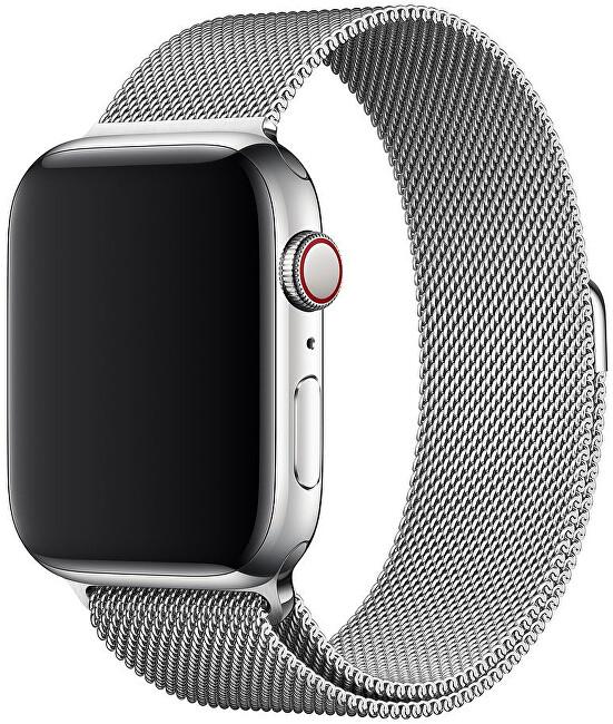 Apple Apple Watch řemínek - milánský tah 40 mm stříbrný - SLEVA III