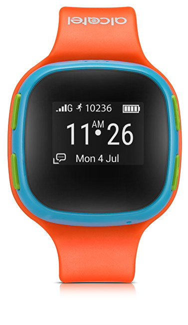 Alcatel GPS lokátor MOVE TIME Track&Talk Watch, Orange/Blue - SLEVA